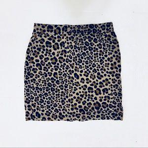 Like New Cheetah Print Mini Skirt